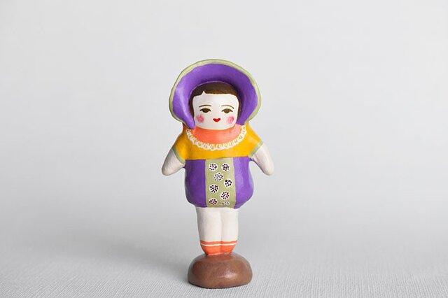 文化人形らしきひと(むらさきボンネット)の画像1枚目