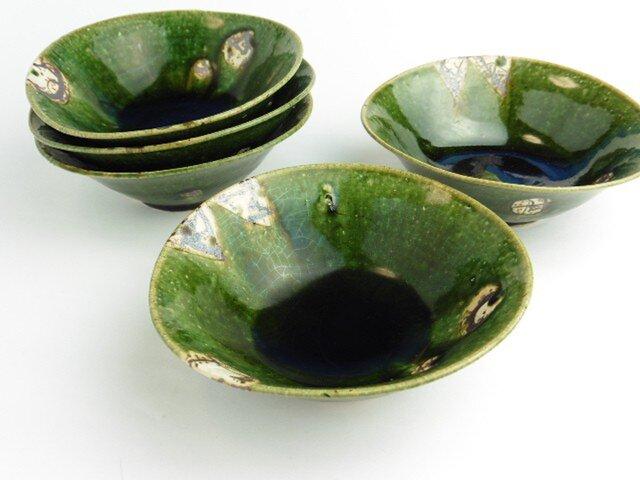 織部 鉄絵小鉢の画像1枚目