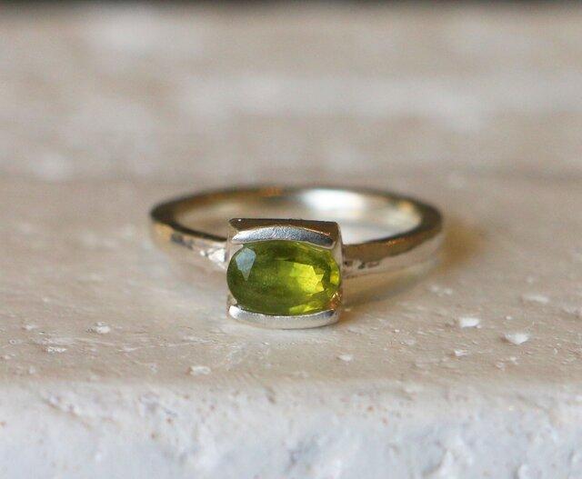 シンプル*天然グロッシュラー・ガーネット 指輪*10号 SVの画像1枚目