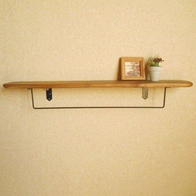 【温泉流木】穴あき平板流木のタオル掛けラック ウォールラック 壁掛け棚 流木インテリアの画像1枚目