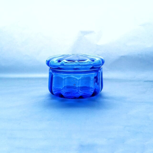 一点物★コバルトブルーのガラスの箱の画像1枚目