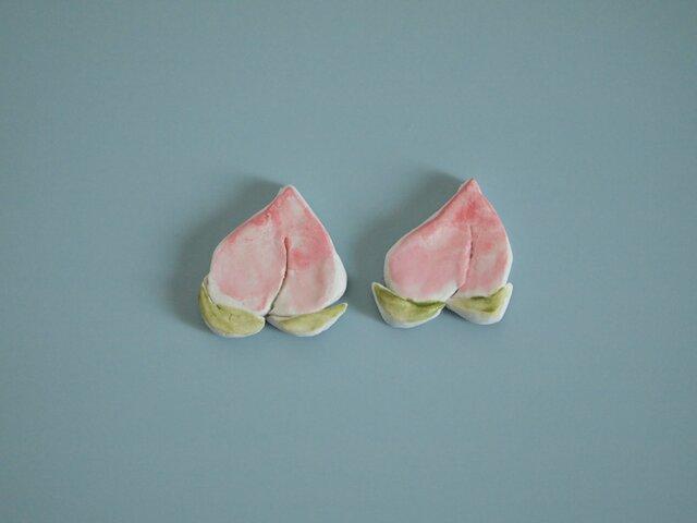 フルーツのブローチ(桃)の画像1枚目