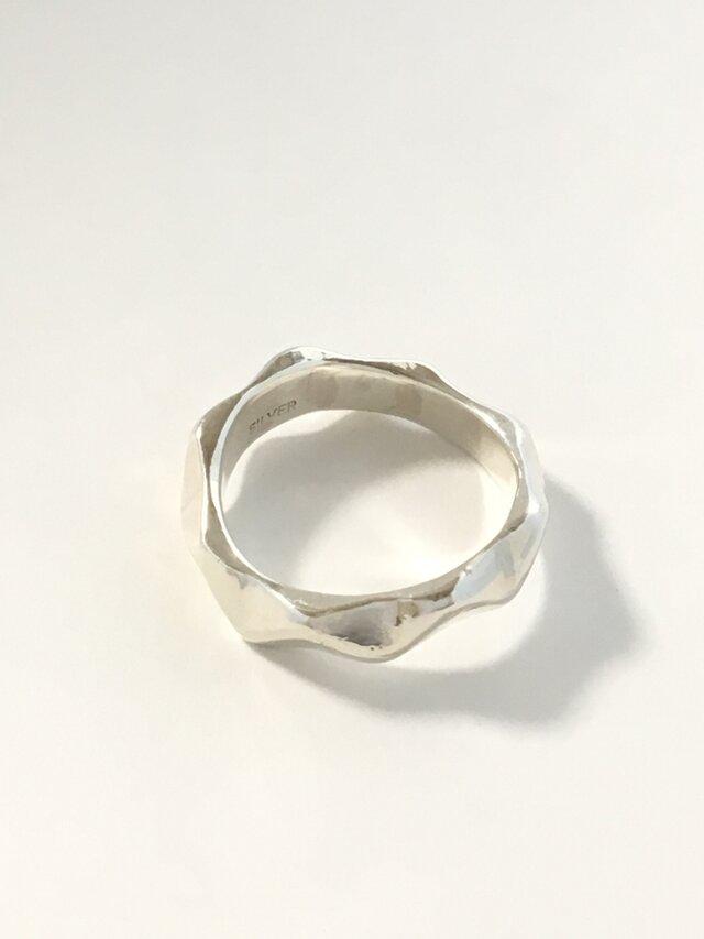 波ナミの指輪(シルバー925)の画像1枚目