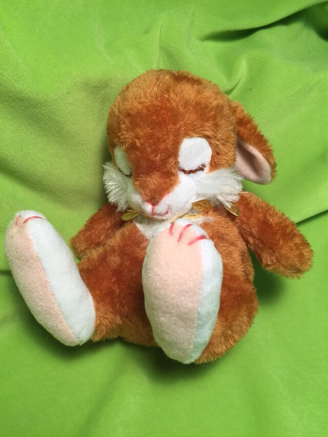 new眠りウサギ(ブラウン)の画像1枚目