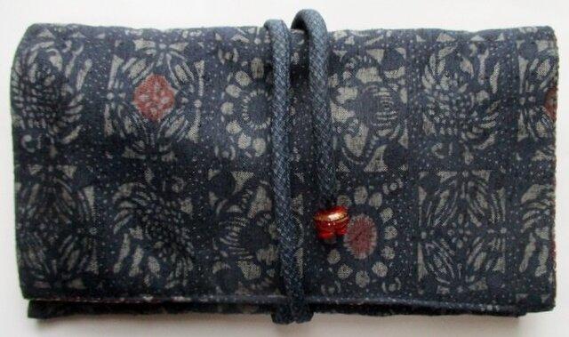 送料無料 花柄の着物で作った和風財布・ポーチ 3239の画像1枚目