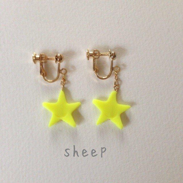 [M様オーダー品]sheep-kids 星パーツのイヤリングの画像1枚目