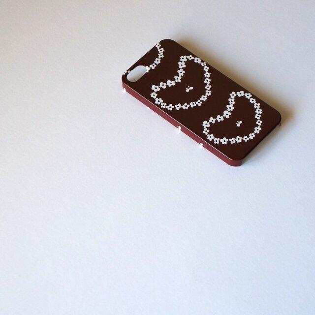 ハード型スマホケース humming heart ( brown ) 【iPhone/Android 各機種対応】の画像1枚目