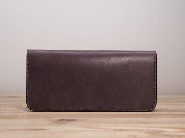 二つ折り財布の長財布(ココア)の画像1枚目