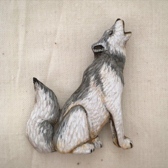 ブローチ オオカミの画像1枚目