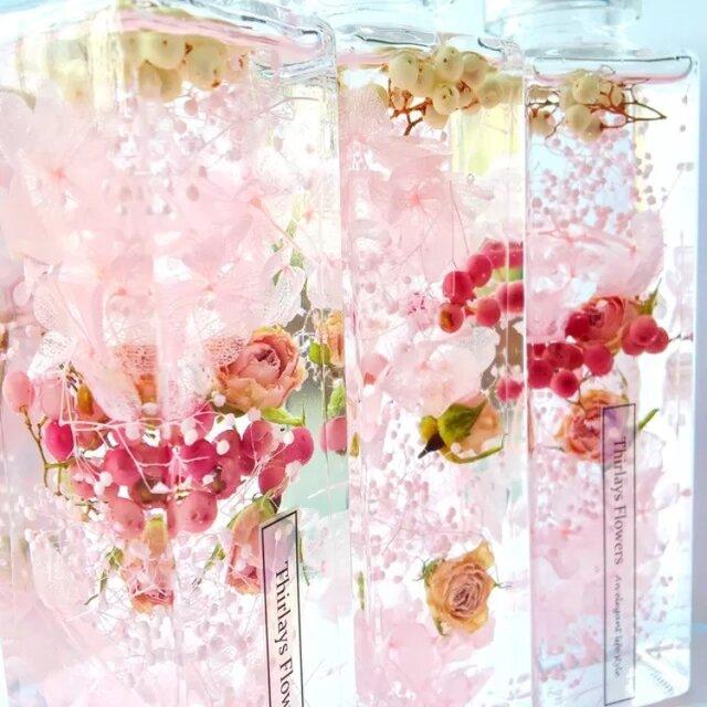 PINK rose 〜ハーバリウム〜ラグジュアリーの画像1枚目