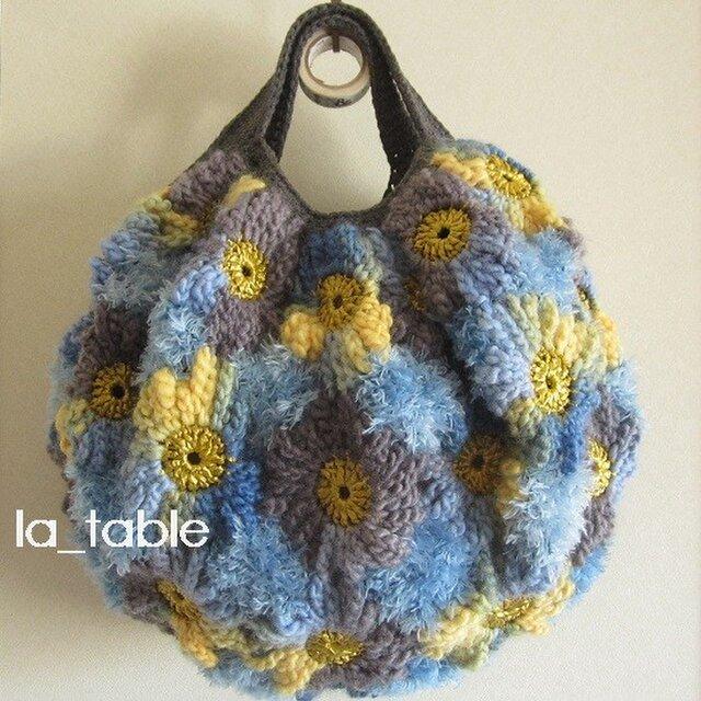 花たくさんのバッグ「BLUE&YELLOW」の画像1枚目