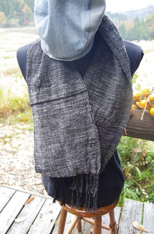 手織り 柔らかスヌードの画像1枚目