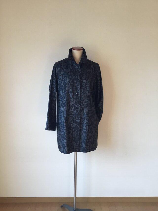 大島のコート(着物リメイク)の画像1枚目