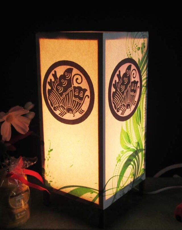 家紋「丸に揚羽蝶」 飾りライト夢灯かりの醍醐味を!!の画像1枚目