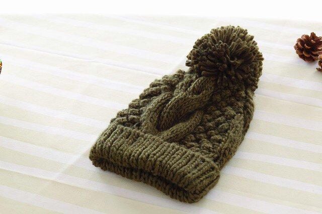 【Lady's】ほっこりあたたか冬帽子 NO:04の画像1枚目