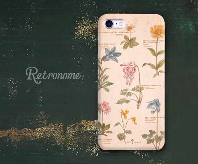 植物柄のiPhoneハードケースの画像1枚目