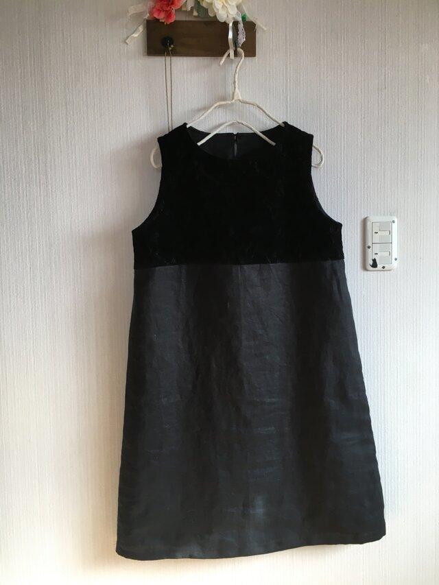 リネン、オパールレースのジャンパースカートの画像1枚目