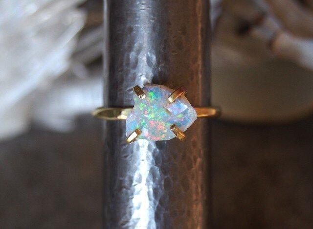 [一点物]原石オパールのリングの画像1枚目