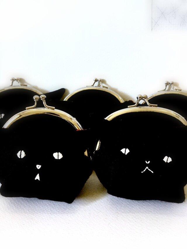 再販:黒猫のがまぐちの画像1枚目