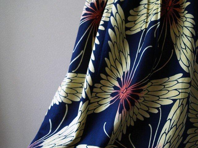 浴衣リメイク:蝶のロングスカートの画像1枚目
