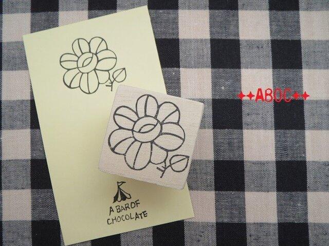 刺繍図案はんこお花_01の画像1枚目