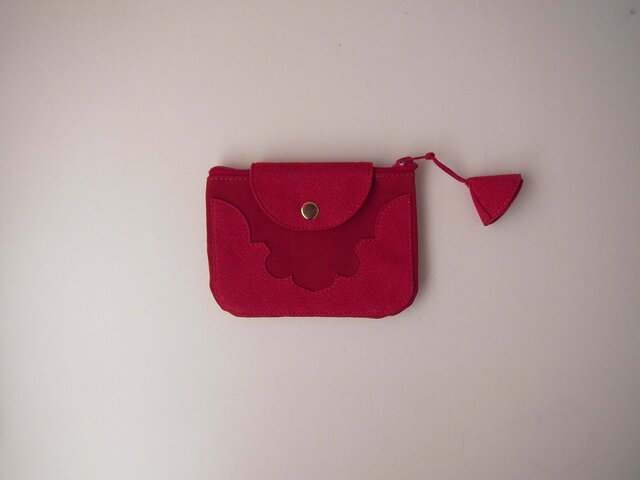 temple coin purse < red >【 受注生産 】の画像1枚目