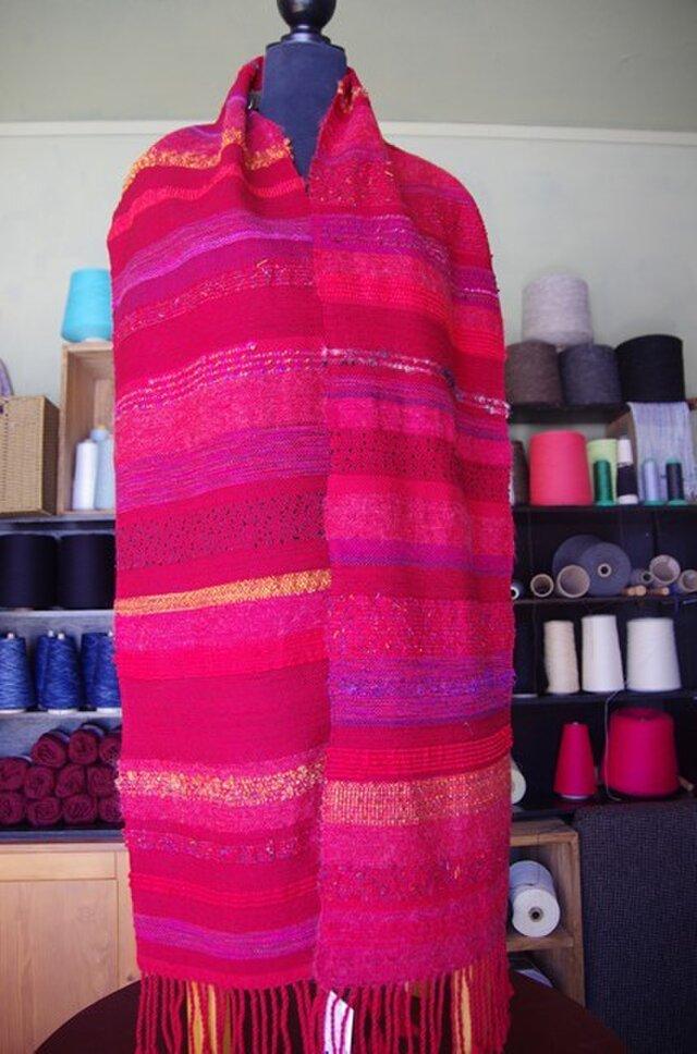 さをり織り マフラー 43の画像1枚目