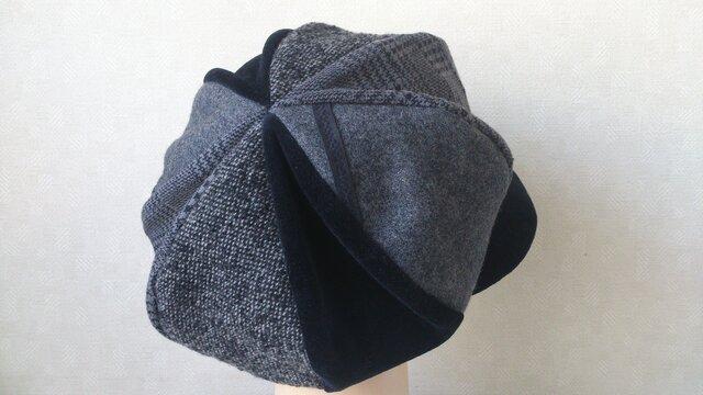 魅せる帽子☆ふんわり♪大きめサイズのキャスケット~モノトーンの画像1枚目