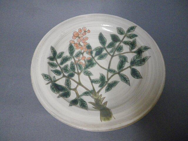 葉紋様 皿の画像1枚目