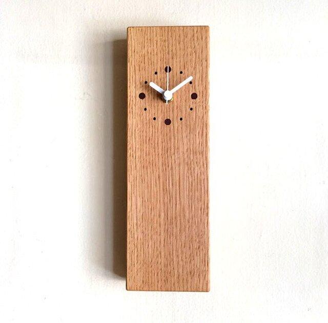 掛け時計 縦型 オークの画像1枚目