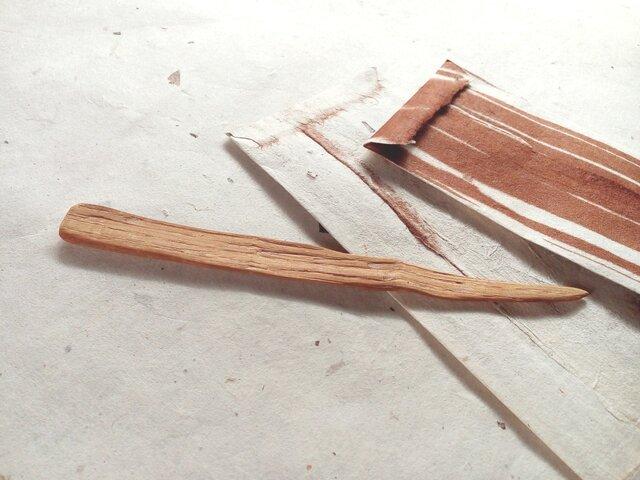 薪から生まれたペーパーナイフ No.04の画像1枚目