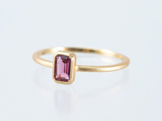 Tourmaline Ring / Pinkの画像1枚目