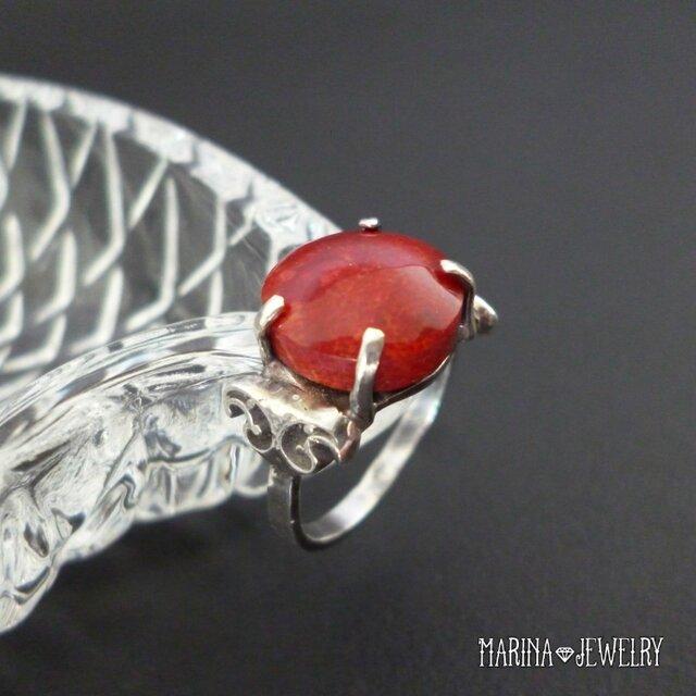 赤珊瑚のリング - silver -の画像1枚目