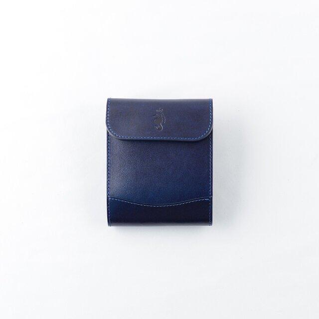bfa9e9a74527 Otto(二つ折り財布) / Indigo(藍染革) | Takumics | ハンドメイド通販 ...