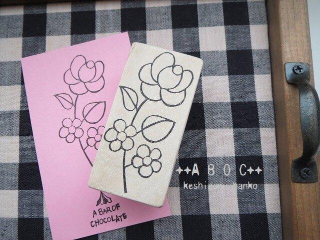 刺繍図案はんこローズ_03の画像1枚目