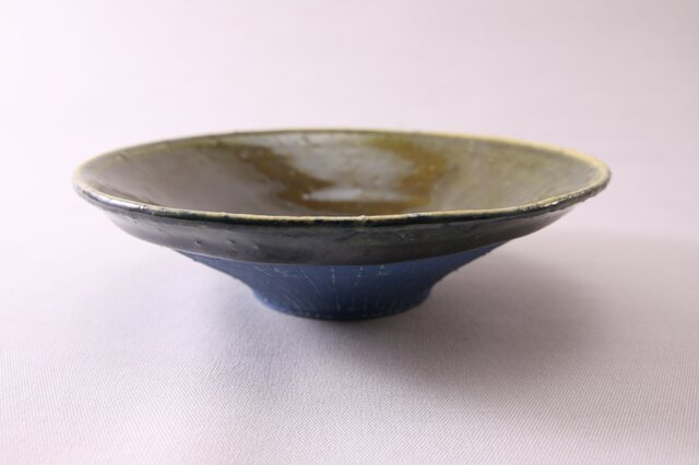 浅鉢(中)‐ori青-の画像1枚目