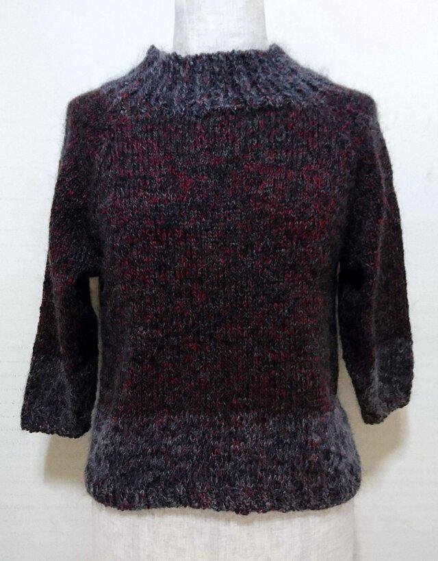 ラグランスリーブのセーターの画像1枚目