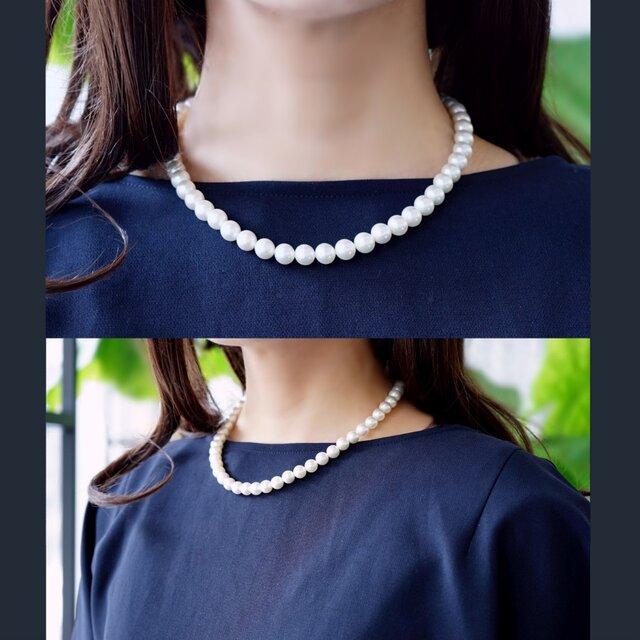 貝パール8mm・40cm一連ネックレス ~Eireneの画像1枚目
