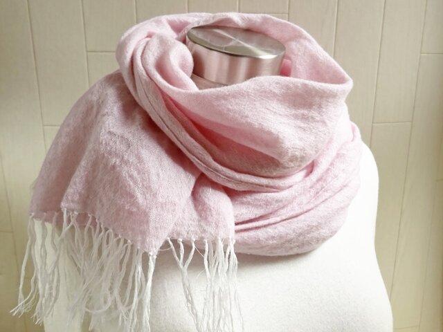 72f824bf26fcc1 リネン ウール ガーゼのストール ピンク | Deco de R | ハンドメイド通販 ...