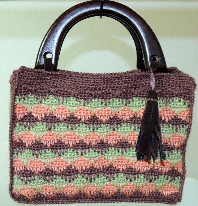 手編みのバッグの画像1枚目