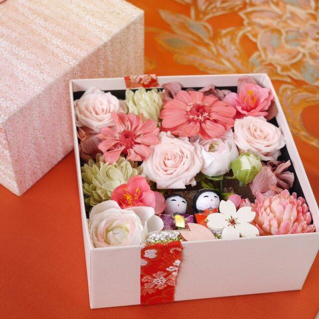 受注製作 お雛様のお花満開BOX の画像1枚目