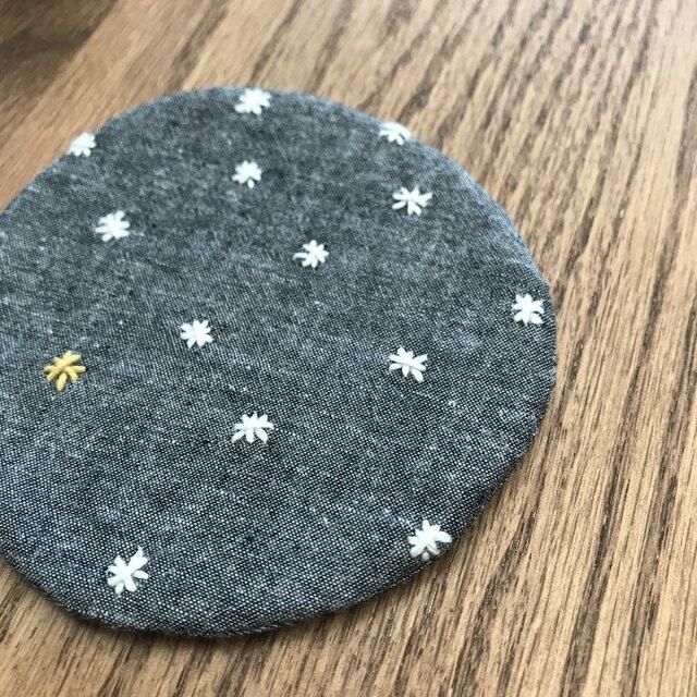 刺し子コースター 星 〈丸〉の画像1枚目