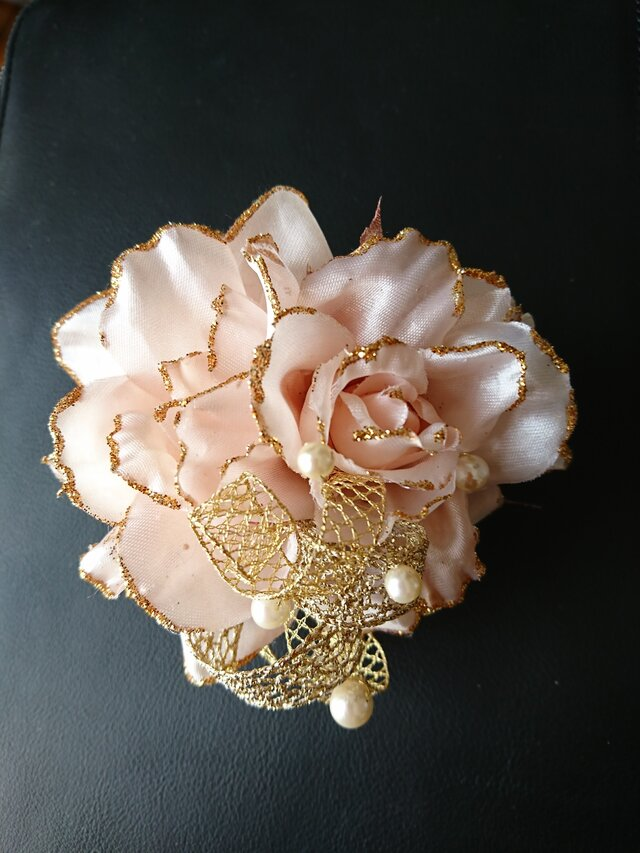 rose corsage (copper pink)の画像1枚目