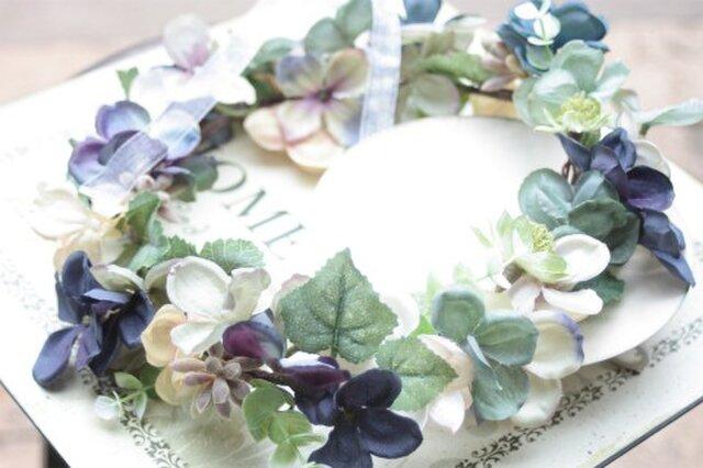 アンティーク紫陽花の花冠の画像1枚目