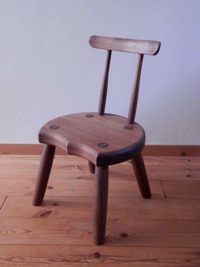 小椅子 ch0711 ウォールナット こども椅子の画像1枚目