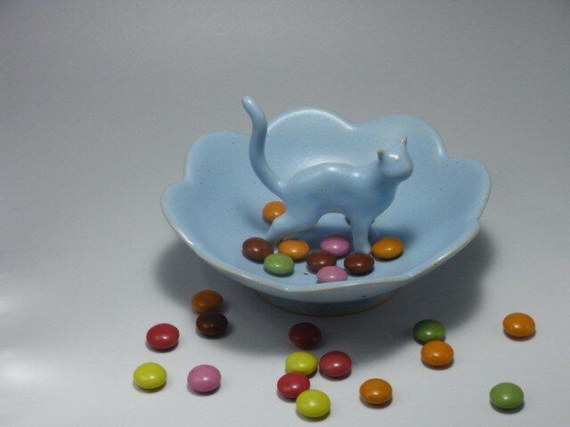 Cat Loverのためのジュエリーディッシュ・アイスブルー・4の画像1枚目