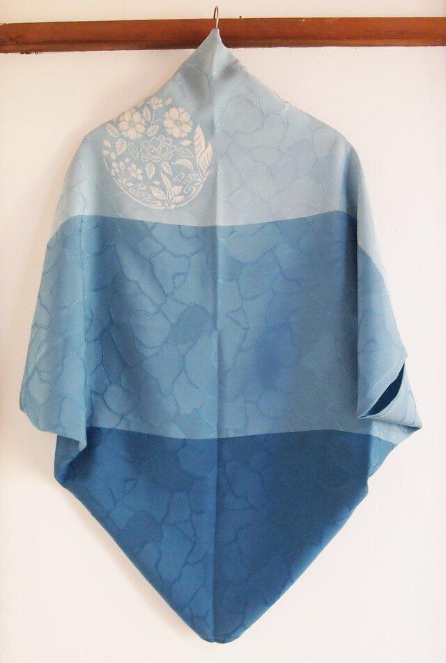 型染め羽織-blue-の画像1枚目