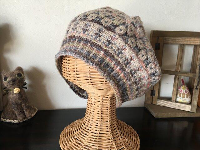 マーガレットのベレー帽【アーシーブルー】の画像1枚目