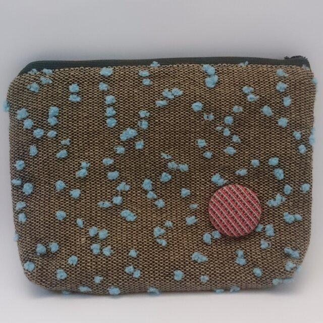 手織りのぺたんこポーチの画像1枚目