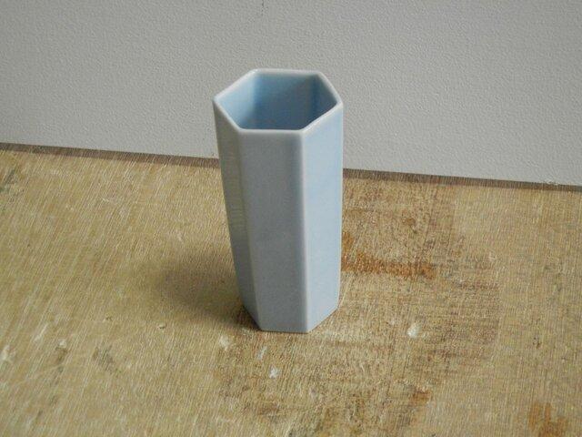 背の高い酒盃 青磁六角の画像1枚目
